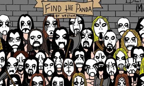 Μπορείς να βρεις το κρυμμένο panda ανάμεσα στους «μεταλλάδες»; (pic)