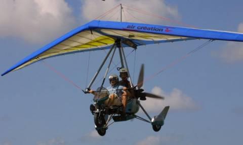 Υπερελαφρά πτητική μηχανή «βούτηξε» στη λιμνοθάλασσα του Μεσολογγίου