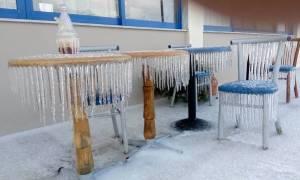 Έβρος: Εντυπωσιακές φωτογραφίες από το παγωμένο Τελωνείο των Κήπων