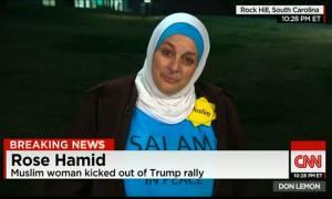 Δείτε τι συνέβη με μία μουσουλμάνα σε προεκλογική συγκέντρωση του Ντόναλντ Τραμπ!