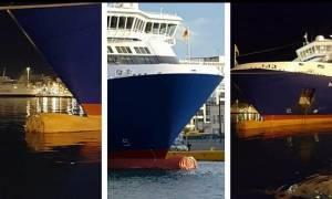 Πλοίο χτύπησε στην προβλήτα στο λιμάνι του Πειραιά