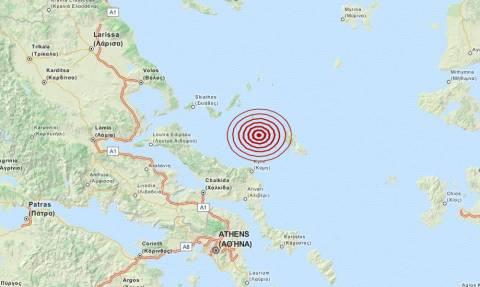 Σεισμός 3,4 Ρίχτερ στις Βόρειες Σποράδες (pic)