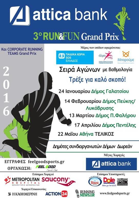 Ξεκινά το ATTICA BANK 3o RUN & FUN GRAND PRIX