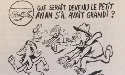 Οργή για σκίτσο του Charlie Hebdo: Συνδέει το μικρό Αϊλάν με τους βιαστές στην Κολωνία! (pic)