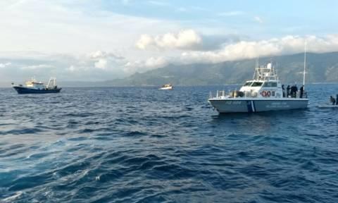 Σκάφος του Λιμενικού προσάραξε στις τουρκικές ακτές
