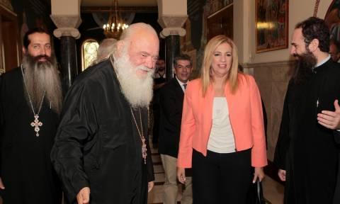 Συνάντηση του Αρχιεπισκόπου Ιερωνύμου με τη Φώφη Γεννηματά