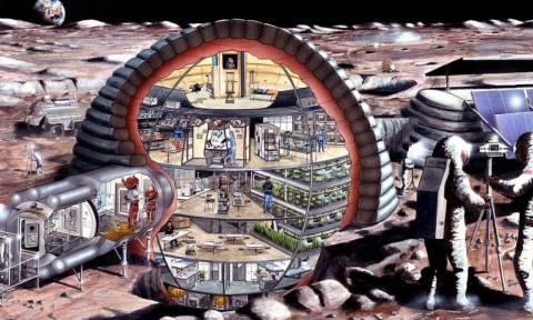 Εφικτή η ιδέα ενός χωριού στη Σελήνη! Δείτε πώς θα μοιάζει (videos)