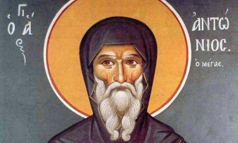 Αγ. Αντώνιος: Η μνήμη του γιορτάζεται στις 17 Ιανουαρίου