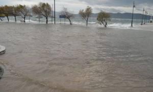 Κακοκαιρία - Γλύφα: Η θάλασσα βγήκε στην στεριά (vid&pics)