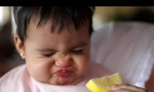 Όταν τα παιδιά δοκιμάζουν πρώτη φορά λεμόνι! (video)