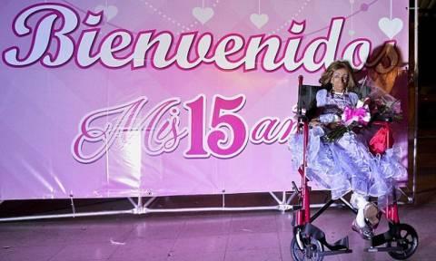 Γιόρτασε τα 15α της γενέθλια σε σώμα 90χρονης (Vid)