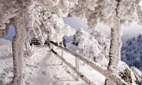Καιρός: Τώρα – Χιονίζει σε Διόνυσο και Ιπποκράτειο Πολιτεία