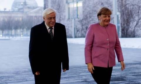 Президент Греции Прокопис Павлопулос встретился с канцлером Германии Ангелой Меркель