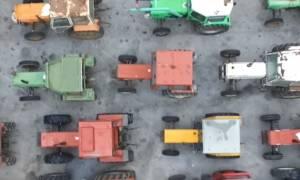 Εντυπωσιακό βίντεο: Μία «θάλασσα» από τρακτέρ στον Προμαχώνα