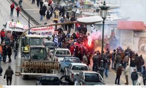 Στα Μάλγαρα οι αγρότες που απέκλεισαν το λιμάνι της Θεσσαλονίκης