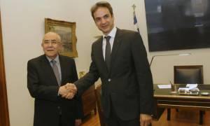 Το Κυπριακό στο επίκεντρο της συνάντησης του Γ.Ομήρου με τον Κυρ.Μητσοτάκη