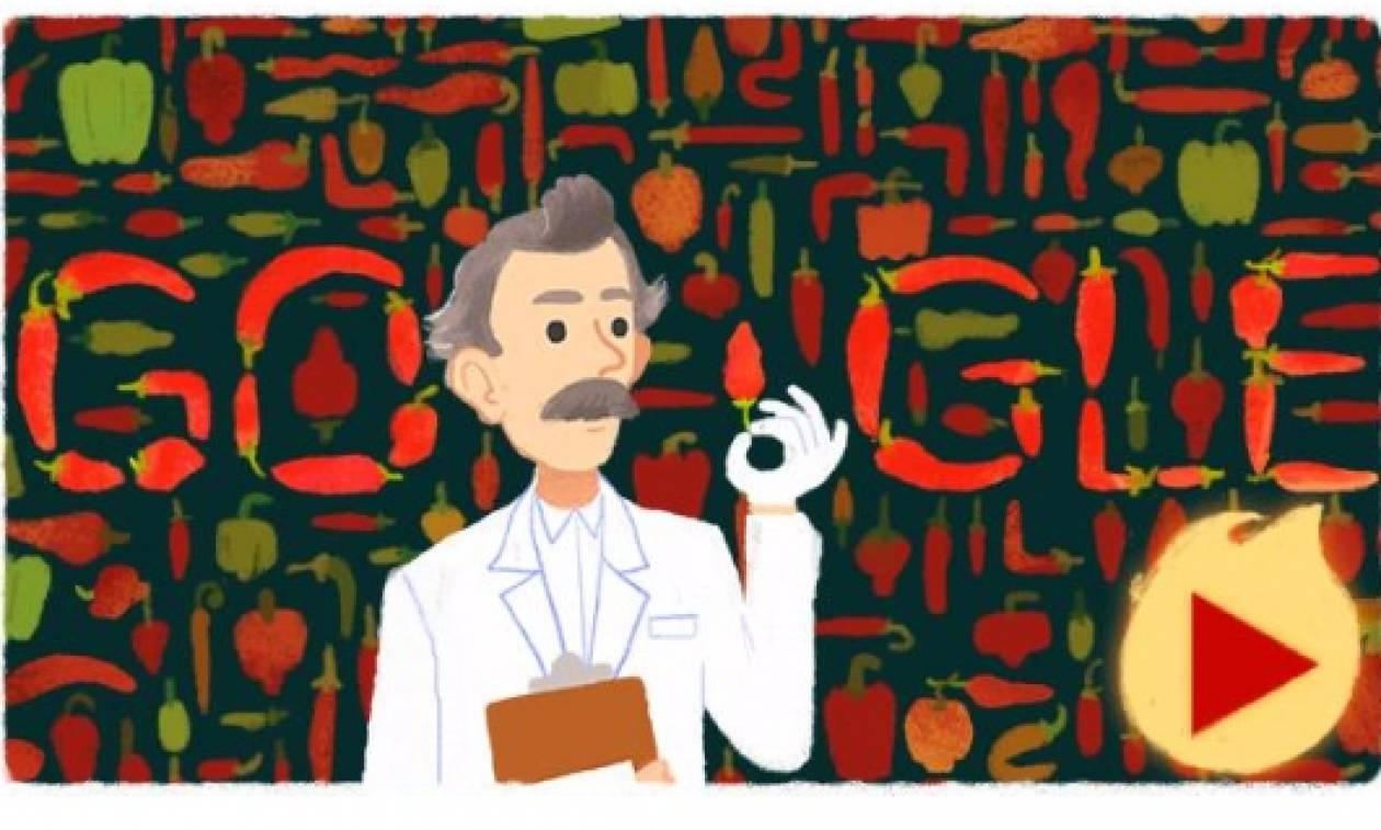 Wilbur Scoville: Η Google τιμά με Doodle τον «πατέρα» της κλίμακας Σκόβιλ