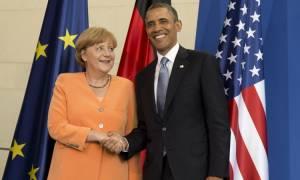 Για συνεργασία στο προσφυγικό ζήτημα δεσμεύτηκαν Ομπάμα - Μέρκελ