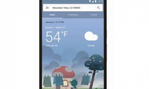 Νέα οπτική εμπειρία για τον καιρό στο Google Now του Android