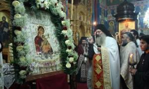 Υποδοχή της Παναγίας της Φοβεράς Προστασίας από την Μονή Κουτλουμουσίου στην Κατούνα (pics)