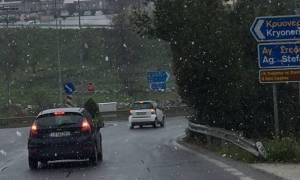 Πυκνή χιονόπτωση στην Αττική! (photos)