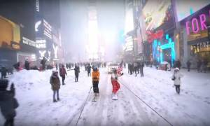 Snowboarding στο κέντρο της Νέας Υόρκης: Αν υπάρχει ένα βίντεο που πρέπει να δείτε σήμερα είναι αυτό