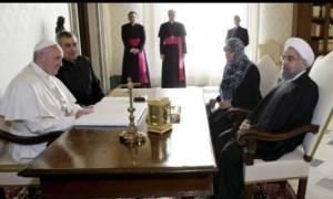 Βατικανό: Θερμή υποδοχή του Πάπα στον πρόεδρο του Ιράν