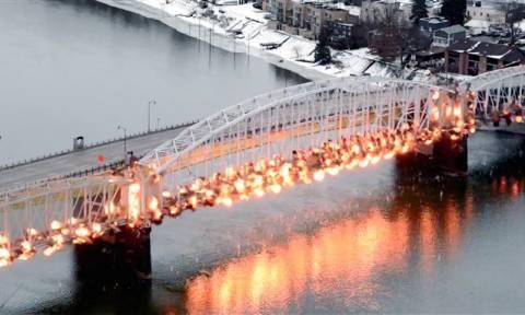 Εντυπωσιακό βίντεο: Κατεδάφιση γέφυρας με ελεγχόμενη έκρηξη (pics+vid)