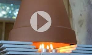 Νικήστε την παγωνιά με λιγότερα από πέντε ευρώ: Φτιάξτε το δικό σας αερόθερμο! (video)