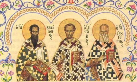 Οι τρεις Ιεράρχες, οι προστάτες των γραμμάτων