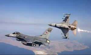 Εικονική αερομαχία ελληνικών - τουρκικών μαχητικών πάνω από το Αιγαίο