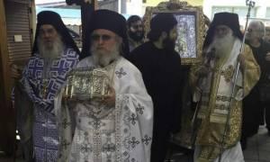Λιτανεία της Παναγίας Παναχράντου και της Κάρας του Αγίου Παντελεήμονος