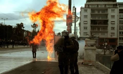 Απεργία - Επεισόδια στο κέντρο της Αθήνας
