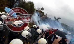 Κως: Ξύλο και δακρυγόνα σε διαμαρτυρία για τα hotspots -Στο νοσοκομείο δύο κάτοικοι (photos-videos)