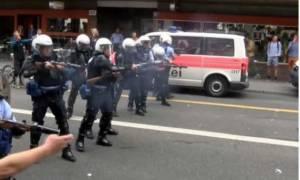 Δακρυγόνα και πλαστικές σφαίρες εναντίον Κούρδων διαδηλωτών στην Ελβετία