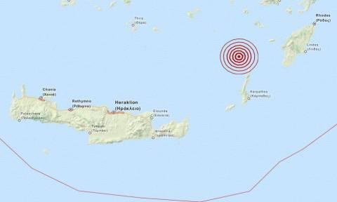 Νέος σεισμός 3,5 Ρίχτερ βορειοδυτικά της Καρπάθου (pic)