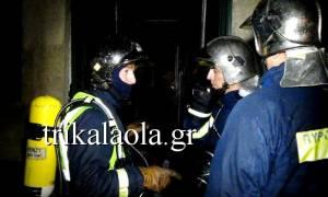 Τρίκαλα: Φωτιά με εκρήξεις σε αμαξοστάσιο – Τραυματίστηκε πυροσβέστης (videos)