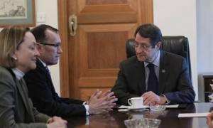 Президент Кипра Никос Анастасиадис провел встречу с советником секретаря ООН Эспеном Бартом Эйде