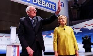 Με φραστικά πυρά γύρω από την υγεία και τη Wall Street το τηλεοπτικό debate Κλίντον - Σάντερς (vid)