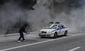 Αγρότες στην Αθήνα: Σοβαρά επεισόδια στο Χαϊδάρι - Πέτρες οι αγρότες - Χημικά η αστυνομία (pics+vid)