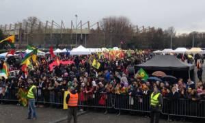 Μεγάλη συγκέντρωση Κούρδων στο Στρασβούργο με αίτημα την αποφυλάκιση του Οτζαλάν