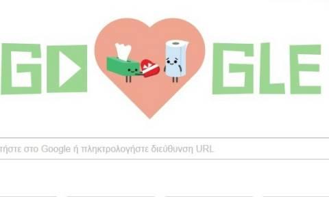 Valentine's Day 2016: Η Google τιμά την ημέρα του Αγίου Βαλεντίνου με ένα Doodle