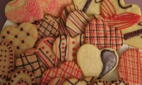 Valentine's Day 2016: Μπισκότα με κρέμα τυριού