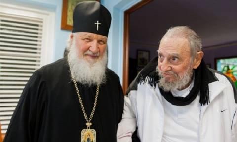 Ιστορική συνάντηση του Φιντέλ Κάστρο με τον Πατριάρχη της Ρωσίας