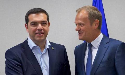 PM Tsipras to meet EU Council president Tusk on Tuesday (16/02/2016)