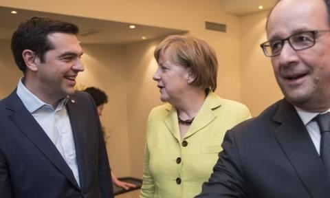 Τριμερής συνάντηση του Αλέξη Τσίπρα με Μέρκελ και Ολάντ