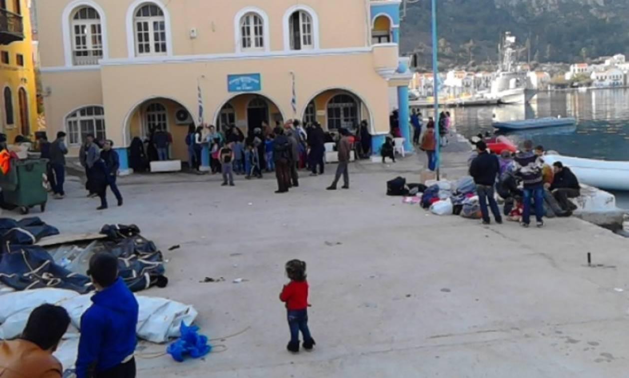Αποτέλεσμα εικόνας για Καστελόριζο πρόσφυγες φωτο