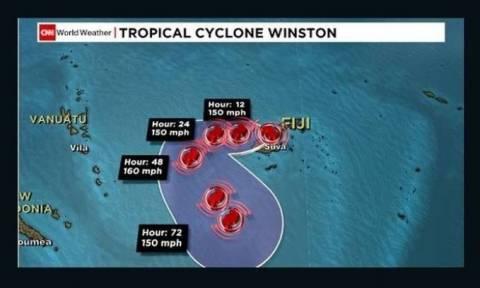 Ο ισχυρότερος τυφώνας του νοτίου ημισφαιρίου χτύπησε τα Φίτζι