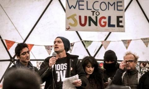 Ο ηθοποιός Τζουντ Λο και άλλοι διάσημοι στην «Ζούγκλα» του Καλαί (pics & vid)