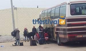 Στο κέντρο μετεγκατάστασης στα Διαβατά περίπου 300 πρόσφυγες (pic+vid)